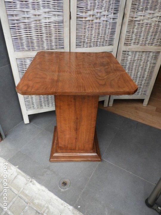 Antigüedades: MESA ART DECO DE MADERA DE CASTAÑO MUY BONITA - Foto 7 - 180110198
