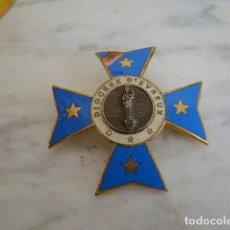 Antigüedades: CRUZ ANTIGUA ESMALTADA DE LA DIÓCESIS DE EVREUX ( FRANCIA EURE 27) VI 53,00 €RGEN. Lote 180110337