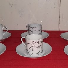 Antigüedades: JUEGO TAZAS DE CAFÉ DISEÑO MARISCAL. Lote 180111046