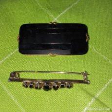 Antigüedades: DOS BROCHES DE SEÑORA ANTIGUOS, AÑOS 40-50. Lote 180127331