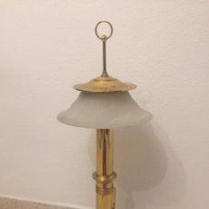 Antigüedades: ANTIGUA LAMPARA DE BARCO 90 CM DE ALTURA. Lote 180130951