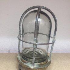 Antigüedades: ANTIGUA LAMPARA DE BARCO DE TECHO 23CM. Lote 180131015