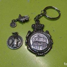 Antigüedades: LOTE SAN VICENTE MÁRTIR, MEDALLA, LLAVERO Y BROCHE. Lote 180134050