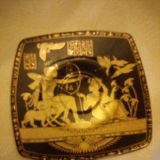 Antigüedades: PLATO DE PORCELANA EGIPCIO FATHI MAHMOUD LIMOGES - HECHO EN EGIPTO,NEGRO Y ORO. Lote 180137357