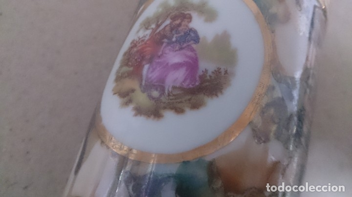 Antigüedades: Juego de tocador fragonard francés (3piezas caja rota) firmada - Foto 3 - 180146180