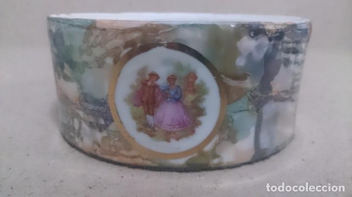 Antigüedades: Juego de tocador fragonard francés (3piezas caja rota) firmada - Foto 7 - 180146180