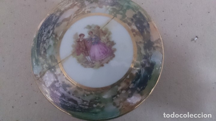 Antigüedades: Juego de tocador fragonard francés (3piezas caja rota) firmada - Foto 10 - 180146180
