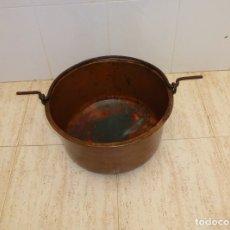Antigüedades: ANTIGUA CALDERA DE COBRE 45 CM DE BOCA.. Lote 180147676