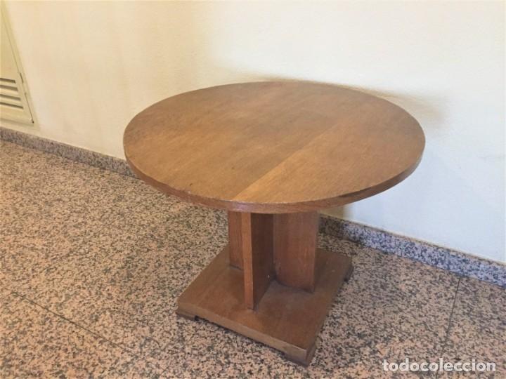 MESA DE CENTRO EN MADERA DE ROBLE ESTILO ART DECÓ (Antigüedades - Muebles Antiguos - Mesas Antiguas)