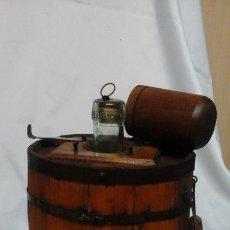 Antigüedades: GARRAFA MADERA - VIDRIO .. Lote 180154640
