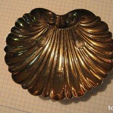 Antigüedades: PRECIOSA CONCHA DE ALPACA PLATEADA IMPECABLE PARA BAUTIZAR U OTROS USOS. Lote 180160345