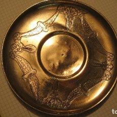 Antigüedades: ANTIGUO PLATO MODERNISTA BAÑADO EN PLATA. Lote 180162583