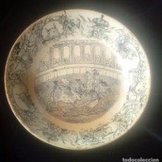 Antigüedades: RARO PLATO DE LOZA DE LA FABRICA DE LA AMISTAD CARTAGENA S.XIX. Lote 180162798