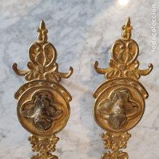 Antigüedades: PAREJA DE PALMATORIAS DE MANO. Lote 180163570