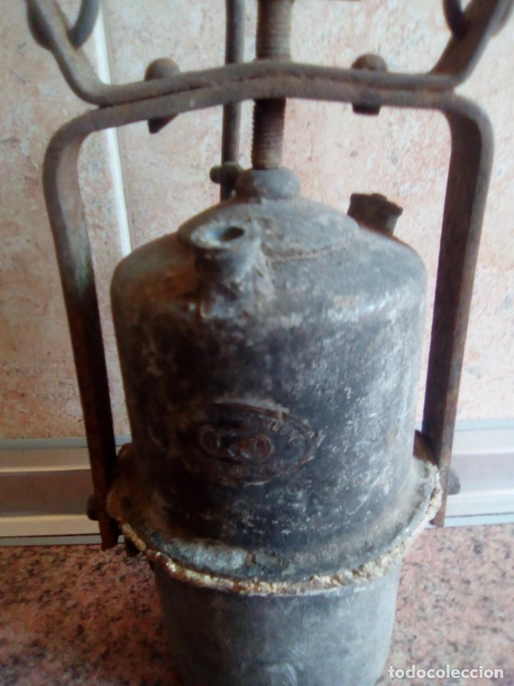 Antigüedades: lampara de carburo siglo xix - Foto 4 - 180170082