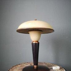Antigüedades: ESPECTACULAR LAMPARA DE DESPACHO INDUSTRIAL ART DECO TIPO SETA AÑOS 30. Lote 180171530