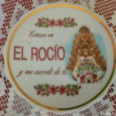 Antigüedades: ANTIGUO ( PLATO, VIRGEN DE LA PALOMA , EL ROCÍO PORCELANA ). MAS. Lote 180173477