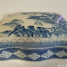 Antigüedades: CAJA ANTIGUA DE PORCELANA FINA CHINA. Lote 180173672
