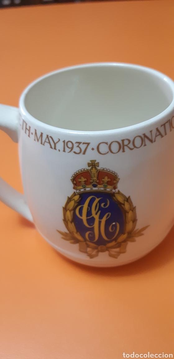 Antigüedades: Taza coronacion original 1937 Jorge VI - Foto 3 - 180173745