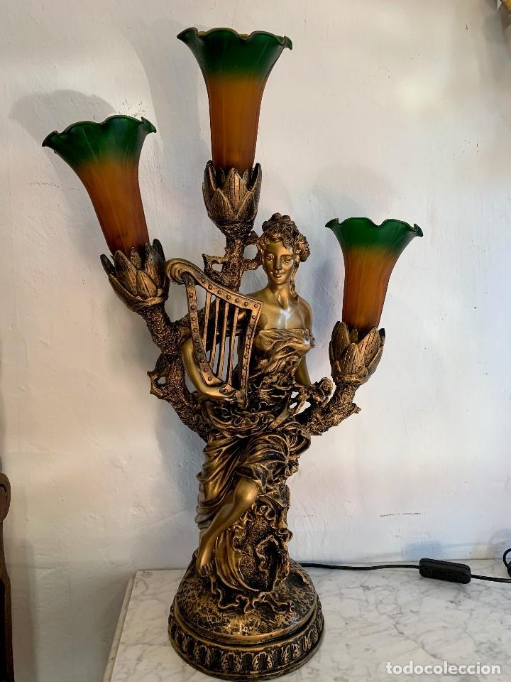 Antigüedades: LAMPARA DE SOBREMESA - Foto 2 - 180188241