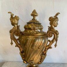 Antigüedades: JARRON DE BRONCE MACIZO AL MERCURIO. Lote 180188548