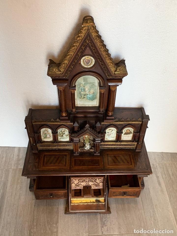 Antigüedades: RETABLO -CAPILLA - Foto 5 - 180188865