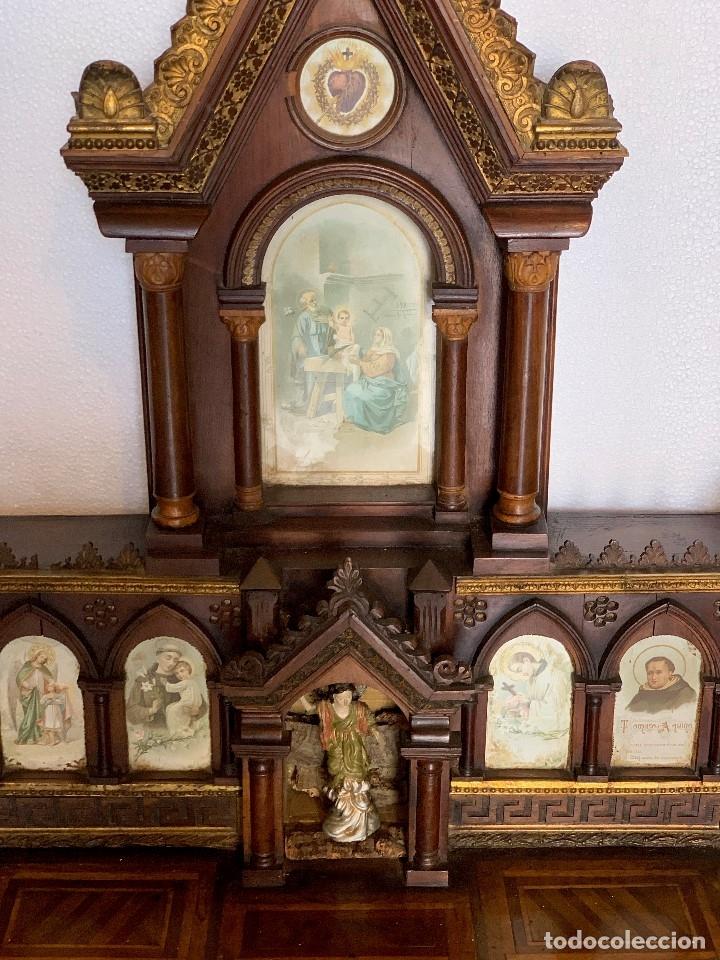 Antigüedades: RETABLO -CAPILLA - Foto 9 - 180188865