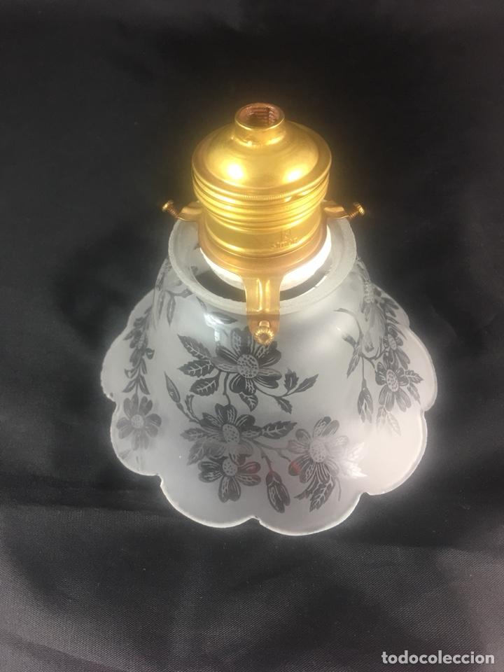 Antigüedades: LAMPARA TULIPA MODERNISTA CON MOTIVOS FLORALES-(19316) - Foto 6 - 180194141