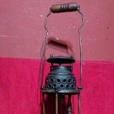 Antigüedades: LAMPARA FAROL DE PRESION MINERO MARCA FOCUS PADROS Y SOLER BADALONA. Lote 180199106