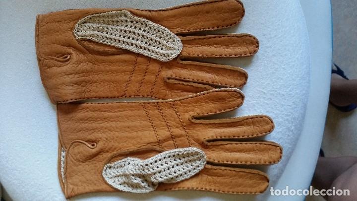 Antigüedades: Magnificas Guentas de Golfe hechas en piel verdadera, elegantes marca Rex mad suiza Anos 60 - Foto 2 - 180204191