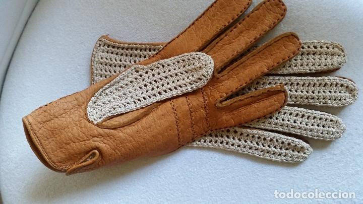 Antigüedades: Magnificas Guentas de Golfe hechas en piel verdadera, elegantes marca Rex mad suiza Anos 60 - Foto 5 - 180204191