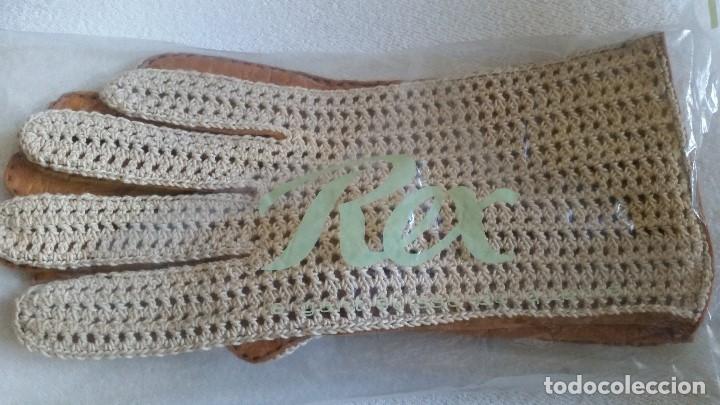 Antigüedades: Magnificas Guentas de Golfe hechas en piel verdadera, elegantes marca Rex mad suiza Anos 60 - Foto 6 - 180204191