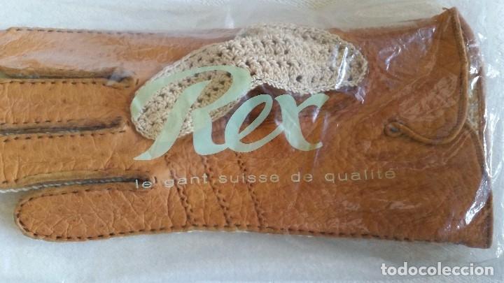 Antigüedades: Magnificas guentas de lujo hechas en piel verdadera, elegantes marca Rex mad suiza Anos 60 - Foto 2 - 180204417