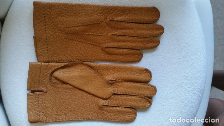 Antigüedades: Magnificas guentas de lujo hechas en piel verdadera, elegantes marca Rex mad suiza Anos 60 - Foto 4 - 180204417
