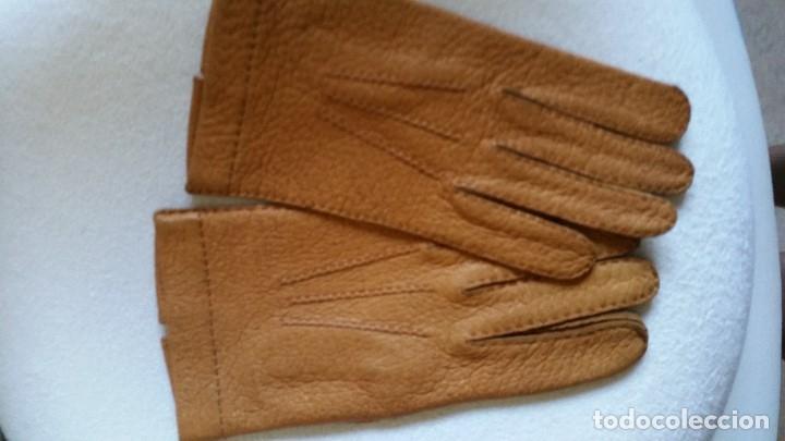 Antigüedades: Magnificas guentas de lujo hechas en piel verdadera, elegantes marca Rex mad suiza Anos 60 - Foto 5 - 180204417