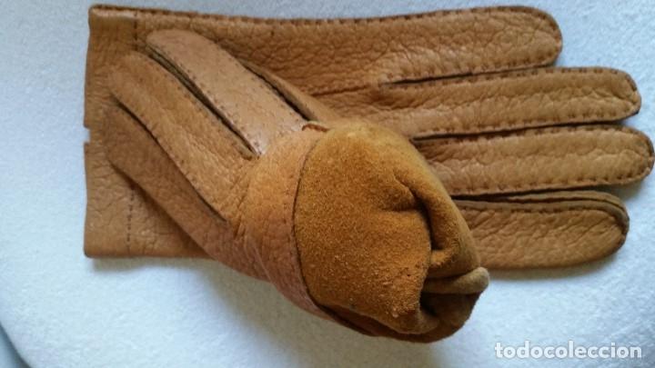 Antigüedades: Magnificas guentas de lujo hechas en piel verdadera, elegantes marca Rex mad suiza Anos 60 - Foto 7 - 180204417