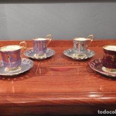 Antigüedades: PRECIOSO JUEGO DE CAFÉ ROYAL CROWN PORCELANA CALADA. Lote 180210362