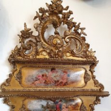 Antigüedades: REPISA-ESTANTERIA PAN DE ORO. Lote 180215266