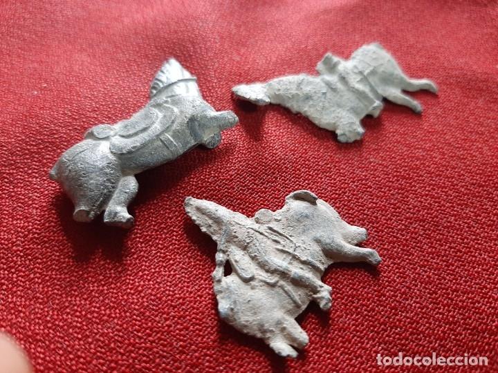 Antigüedades: CABALLOS DE PLOMO - Foto 2 - 180236995