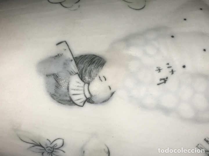 Antigüedades: Jarrón en porcelana motivo oriental gueisa Original - Foto 2 - 180239661