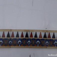 Antigüedades: AZULEJOS DE LA FABRICA RAMOS REJANO DE SEVILLA. Lote 180252923
