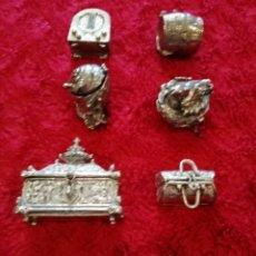 Antigüedades: CONJUNTO DE PASTILLEROS DE ALPACA. Lote 180255565