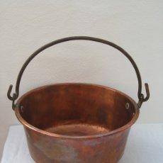 Antigüedades: ANTIGUA CALDERA DE COBRE 35 CM DE BOCA.. Lote 180262358