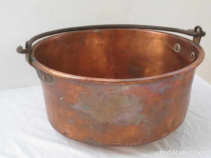 Antigüedades: Antigua caldera de cobre 35 cm de boca. - Foto 5 - 180262358