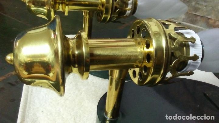 Antigüedades: 2 APLIQUES ANTIGUOS CUERPO DE BRONCE - Foto 5 - 180262633