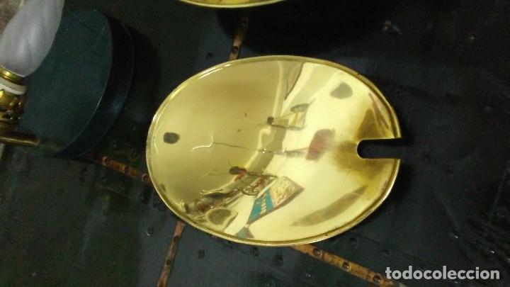Antigüedades: 2 APLIQUES ANTIGUOS CUERPO DE BRONCE - Foto 16 - 180262633