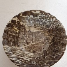 Antigüedades: FUENTE DE PORCELANA PONTESA 24 X 6 CM. Lote 180265676