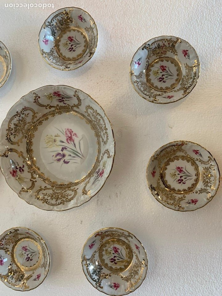 FUENTE Y 7 TAZONES PORCELANA BAVARIA SYLVIE (Antigüedades - Porcelanas y Cerámicas - Otras)