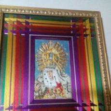 Antigüedades: CUADRO CON LA VIRGEN HECHO CON HILOS. Lote 180278813