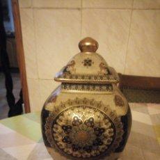 Antigüedades: ANTIGUO JARRÓN CHINO O TIBOR DE PORCELANA CHINA SELLADO,AÑOS 50/60. Lote 180280103